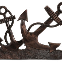 "19"" Anchors Aweigh Wall Decor, Bronze, Other Accent Pieces"