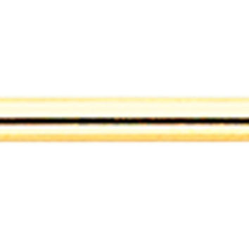 Gold Colored PVD Industrial Barbell