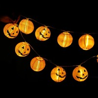 1.2 meters 10 head lamp LED lamp string Halloween pumpkin lantern faces [18777767956]