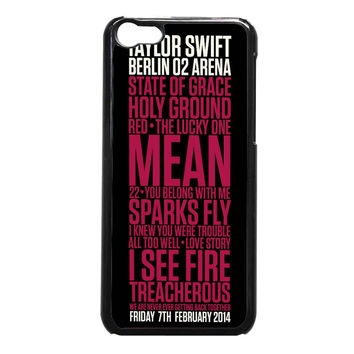 Taylor Swift Red poster FOR IPHONE 5C CASE**AP*