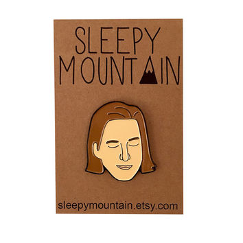 Wes Anderson Pin - Film Director Enamel Brooch - Illustrated Enamel Pin