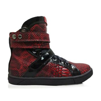 Burgundy Anaconda Super Shift Hightop Bodybuilding Sneaker