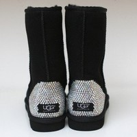 LUXURY UGG short boots w Swarovski Elements - Luxury CUSTOM MADE designer item