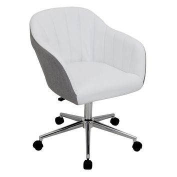 Shelton Office Chair Grey, White