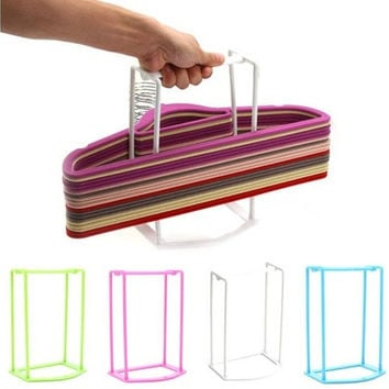 Plastic Hangers Creative Home Finishing Frame Hanger Companion Storage Rack  [8833487052]