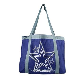 Dallas Cowboys Tailgate Canvas Tote Shoulder Bag Purse NFL