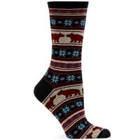 Hot Sox Women's Bear Fair Isle Sock