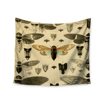 "Suzanne Carter ""Vintage Cicada"" Bugs Pattern Wall Tapestry"