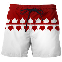 Canada Shorts Canada Maple Leaf Swim Trunks