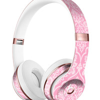 Shades of Pink Damask Pattern Full-Body Skin Kit for the Beats by Dre Solo 3 Wireless Headphones