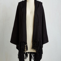 Upstate Swank Shawl in Black by ModCloth