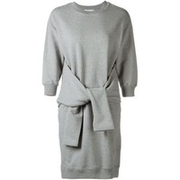 Le Ciel Bleu Sleeve-Tie Sweatshirt Dress