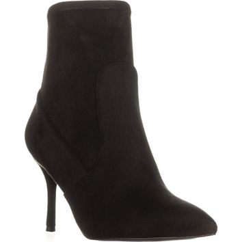 Nine West Cadence Pointed Toe Ankle Booties, Black, 8 US