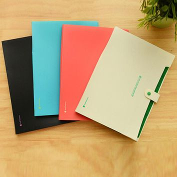 Plastic A4 Button Test File Folder 8 Layer Large Multifunction Expanding Wallet Clip Snap Waterproof School Office Business Bag