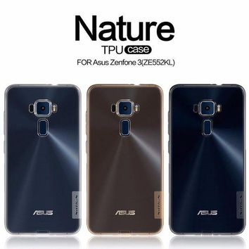 MDIGHY9 Asus Zenfone 3 ZE552KL case Asus Zenfone 3 ZE520KL TPU back cover NILLKIN Nature clear TPU soft case with retailed package