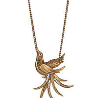 Yochi Gold Plated Bird Pendant Necklace - Max and Chloe