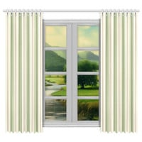 "Window curtains - 2 pieces, 104"" wide, Variable Length, Home, Decor, Bedroom, Kitchen, Style, Sage, Green, Beige, Designer, Abstract, Modern"