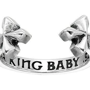 King Baby Studio Open Ring w/ MB Crosses