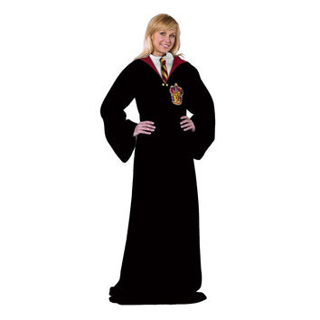 H Potter -Hogwarts Rules Adult Comfy Throw Blanket with Sleeves