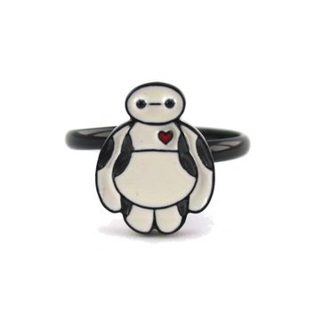 Marvel Big Hero 6 Baymax Shaped Adjustable Ring