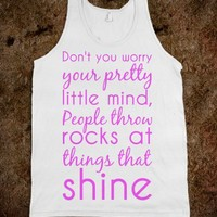 DON'T WORRY YOUR PRETTY MIND TANK TOP TEE T SHIRT