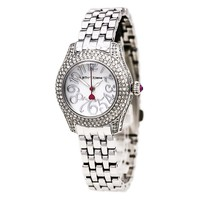 Betsey Johnson BJ00193-04 Women's White MOP Dial Stainless Steel Bracelet Watch
