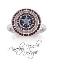 Avengers Captain America Ring by Carolyn Nicole Designs