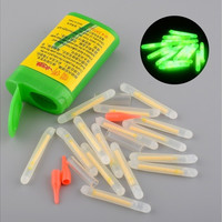 15pcs Mini Fishing Fluorescent Lightstick Night Float Clip On Dark Glow Stick