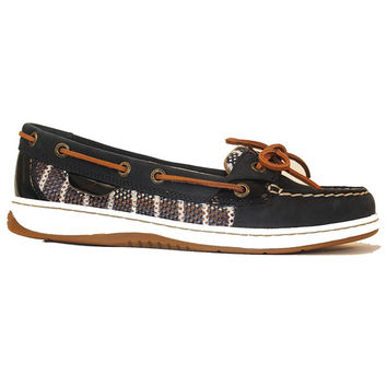 Sperry Top-Sider Angelfish - Navy/White Breton Mesh Boat Shoe