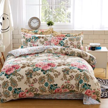 bedding sets cotton set Reactive Printing hot sale comforter bed set Queen full size 4 pcs