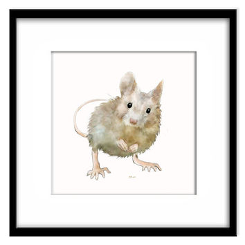 Mouse Nursery Art, Printable Kids Wall Art, Print Your Own Art and Cards, Child's Room