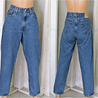 Vintage Levis 560 jeans 32 X 30 / size 8 / 9 / high waisted / tapered leg levis jeans / mens / womens