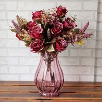 A Bouquet of Luxury Exquisite Living Room Decoration High-Quality Simulation Rose (No Vase)