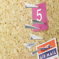 Paper Airplane Push Pins