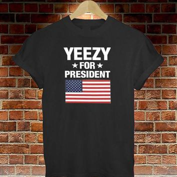 Day-First™ Black Yeezy FOR PRESIDENT AMERICA GREAT FUNNY THUMBLR T SHIRT TOP KANYE YEEZUS
