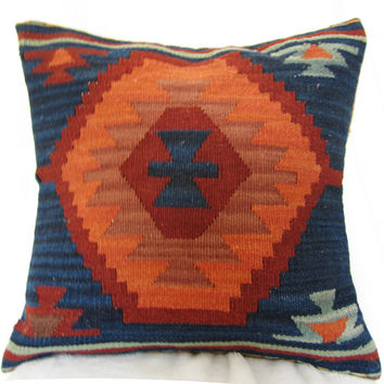 Wool hand-woven Kilim cushion exotic ethnic pillow Pakistan India wind lumbar lumbar pillow