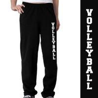 Premium Volleyball Fleece Sweatpants | Unisex | Adult Medium | Black