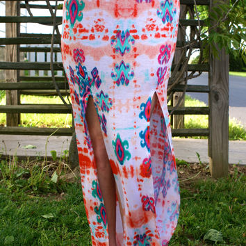 Colorful Love Maxi Skirt: Multi