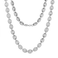 Custom Gucci Link Necklace 14k White Gold Finish