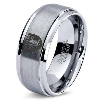 Oakland Raiders Ring Mens Fanatic NFL Sports Football Boys Girls Womens NFL Jewelry Fathers Day Gift Tungsten Carbide 023