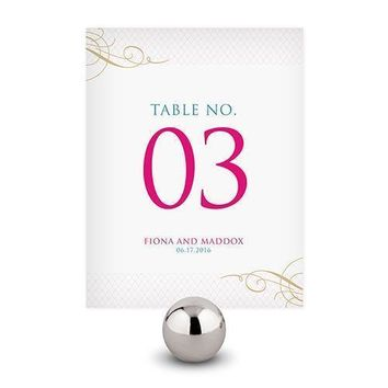 Contemporary Vintage Table Numbers Numbers 1-12 Daiquiri Green (Pack of 12)