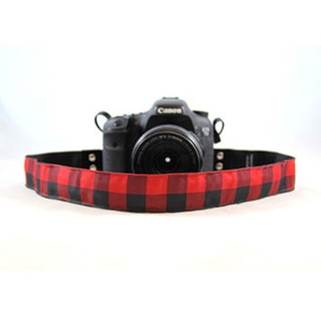 CASLR15-BFOR Buffalo Plaid Red 1.5In  Camera Strap - Capturing Couture
