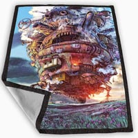 Howl s Moving Castle Blanket for Kids Blanket, Fleece Blanket Cute and Awesome Blanket for your bedding, Blanket fleece *