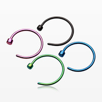 4 Pcs Pack of Colorline Steel Nose Hoops