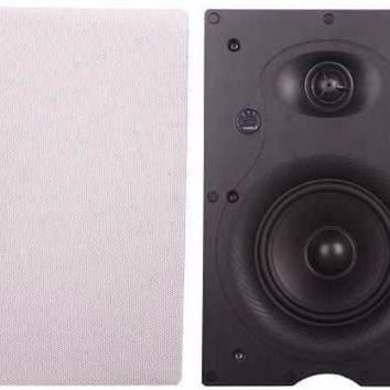 """Cabinets LED 6.5"""" Inches 100V In-Wall Speaker with Pivoting Tweeter (6.5 Inch in-wall)"""