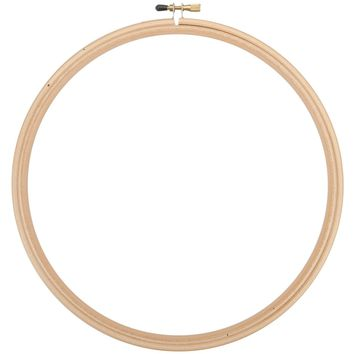 Frank A. Edmunds Wood Embroidery Hoop W/Round Edges 9""