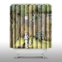 Pink Peri™ Where the wild things are Shower Curtain Handmade Home & Living Bathroom,70-Inch by 70-Inch