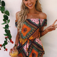 Character strapless romper