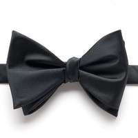 Bow Tie Tuesday Solid Pretied Bow Tie - Men, Size: One Size (Black)