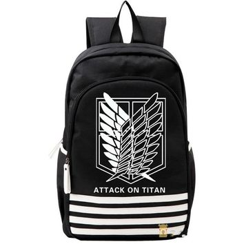 Student Backpack Children Shingeki no Kyojin Scouting Legion Oxford Schoolbag Attack on Titan Japan Anime Cosplay Backpack Shoulders Bag for Students Gift AT_49_3